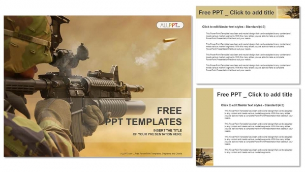 Submachine gun military powerpoint templates submachine gun military powerpoint templates 4 toneelgroepblik