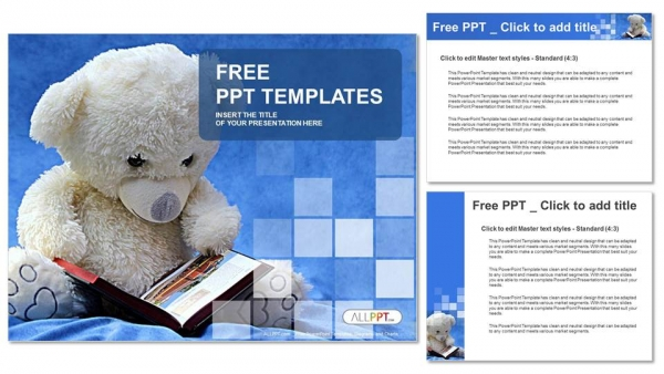 Teddy bear reads a book powerpoint templates teddy bear reads a book powerpoint templates 4 copy toneelgroepblik Images