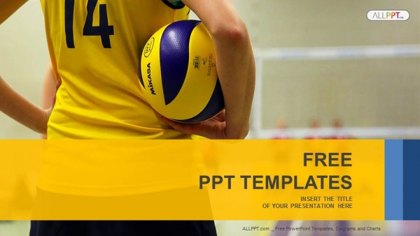 Young girl holding volleyball sports powerpoint templates toneelgroepblik Image collections