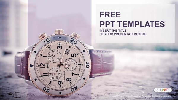 men s watch with leather strap powerpoint templates
