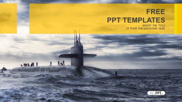 Free military powerpoint templates design submarine sailing military powerpoint templates toneelgroepblik Image collections