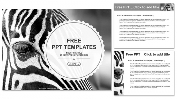 Monochromatic image of a the face of a zebra close up powerpoint monochromatic image of a the face of a zebra close up powerpoint templates 4 toneelgroepblik Choice Image