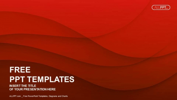 Free colorful powerpoint templates design waves of red powerpoint templates toneelgroepblik Image collections