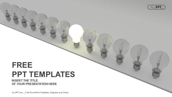 bright idea concept with light bulb PowerPoint Templates (1)