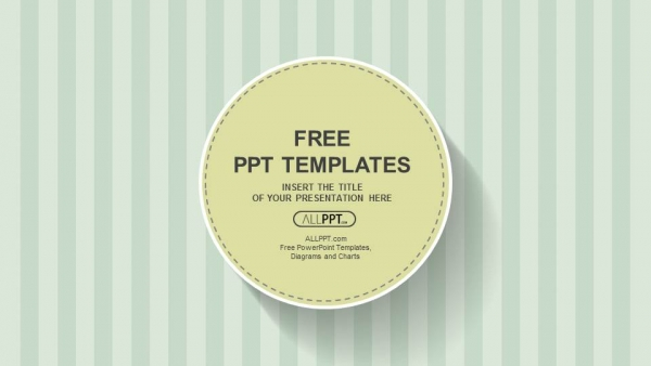 Abstract PPT Templates Cool Green Simple