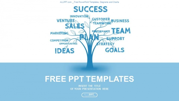 Concept blue word tree leadership marketing or business powerpoint concept blue word tree leadership marketing or business powerpoint templates friedricerecipe