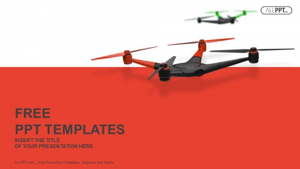 Flying drone quadrocopter powerpoint templates quadrocopter powerpoint templates 1 toneelgroepblik Gallery