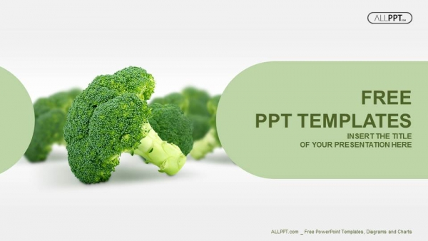 Free colorful powerpoint templates design fresh broccoli isolated on white powerpoint templates toneelgroepblik