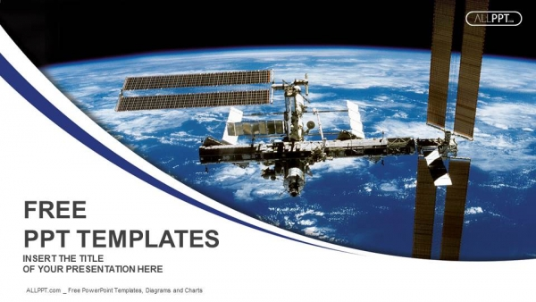 Free industry powerpoint templates design international space station in orbit around the earth powerpoint templates toneelgroepblik Images