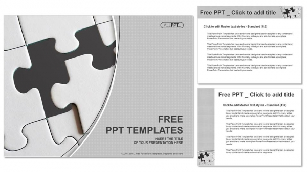 Last piece of jigsaw puzzle PowerPoint Templates