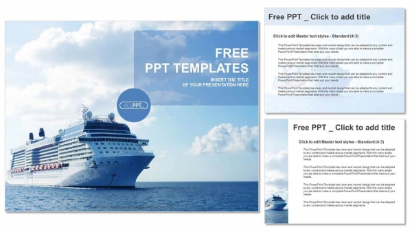 luxury cruise ship sailing powerpoint templates. Black Bedroom Furniture Sets. Home Design Ideas
