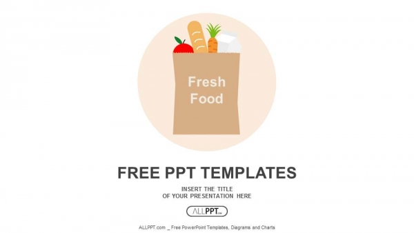 Free food powerpoint templates design paper bag with fresh food powerpoint templates toneelgroepblik Images