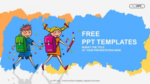 Free education powerpoint templates design school children students little boy and girl kids powerpoint templates toneelgroepblik