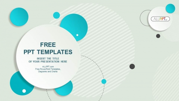 Abstract Design Circle Bubble Powerpoint Templates