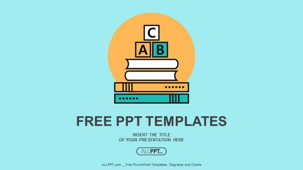 Free education powerpoint templates design alphabet letter abc blocks on books powerpoint templates toneelgroepblik Images