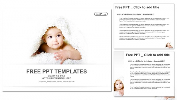 Baby Is Hiding Under The White Blanket Powerpoint Templates