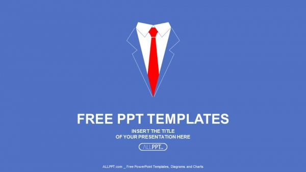business man shirt with red tie powerpoint templates 1