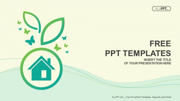 Free nature powerpoint templates design green house on the plants and butterflies powerpoint templates toneelgroepblik