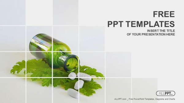 Free nature powerpoint templates design medicine herb and herbal pills powerpoint templates toneelgroepblik Choice Image