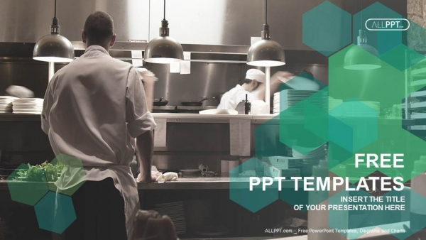 Motion chefs of a restaurant kitchen powerpoint templates toneelgroepblik Choice Image