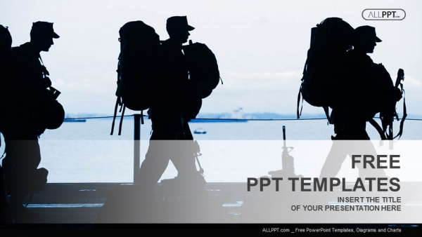 Silhouette of military soldier with weapons powerpoint templates silhouette of military soldier with weapons powerpoint templates 1 toneelgroepblik Image collections