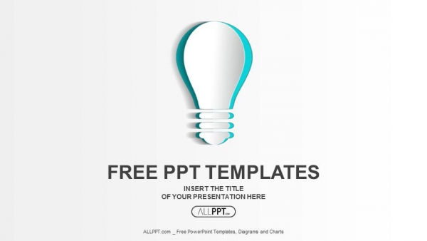 abstract paper idea bulb powerpoint templates 1