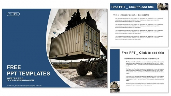 Forklift handling the container box powerpoint templates forklift handling the container box powerpoint templates 4 toneelgroepblik Gallery