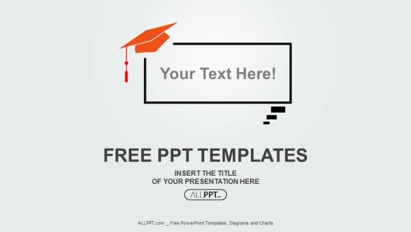 Free education powerpoint templates design graduation cap on speech balloon powerpoint templates toneelgroepblik Choice Image