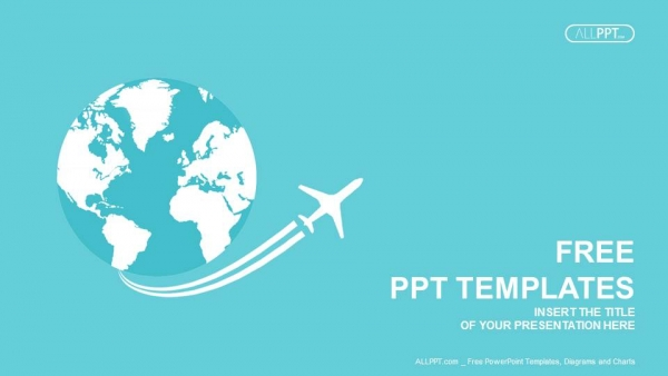 Jet Airplane Travel On Earth Powerpoint Templates