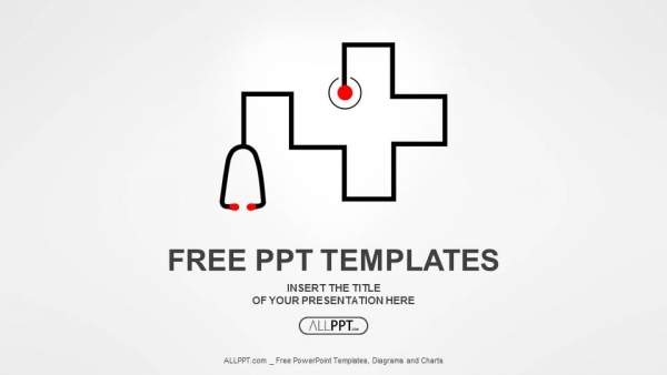 Free simple powerpoint templates design stethoscope as symbol of medicine powerpoint templates toneelgroepblik