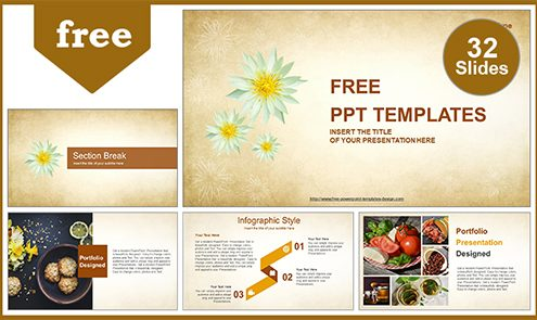 Free nature powerpoint templates design abstract white flowers powerpoint template list toneelgroepblik Images