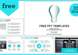 Free powerpoint templates design abstract paper idea bulb powerpoint templates features toneelgroepblik Images