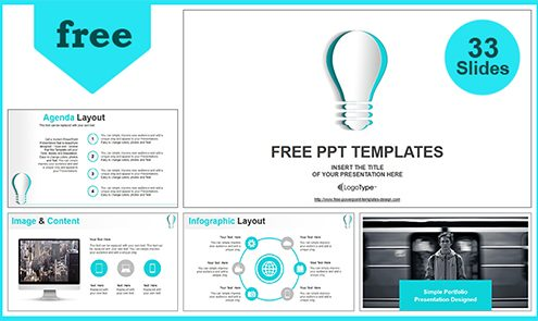 Free best business powerpoint templates with professional 55slides abstract paper idea bulb powerpoint templates features flashek Images