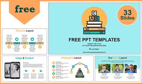 Free best education powerpoint templates with professional 55slides alphabet blocks of education concept powerpoint template toneelgroepblik Images