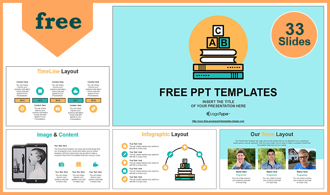 Alphabet Blocks Of Education Concept Powerpoint Template