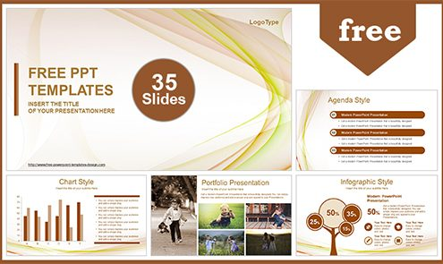 Free abstract powerpoint templates design beautiful wave abstract powerpoint template list toneelgroepblik Choice Image