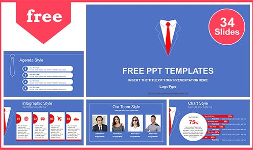Free business powerpoint templates design business powerpoint template businessmans red tie powerpoint template list friedricerecipe Gallery