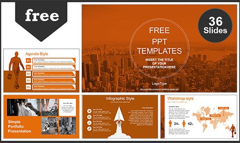 Free powerpoint templates city of business man powerpoint template list toneelgroepblik Choice Image