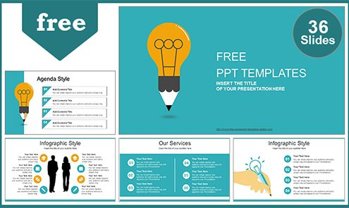 Free modern powerpoint templates design creative idea bulb powerpoint template list toneelgroepblik Images