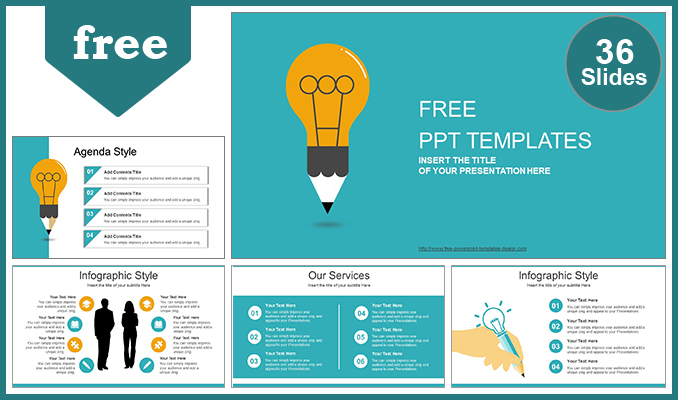 Creative idea bulb powerpoint template maxwellsz