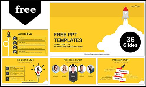 Free business powerpoint templates design rocket launched powerpoint template flashek Choice Image