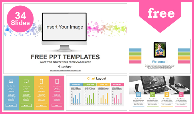 Simple Monitor Powerpoint Template