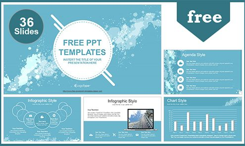 Free abstract powerpoint templates design water colored splashes powerpoint template list toneelgroepblik Images