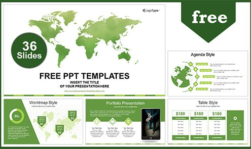 Free business powerpoint templates design global business map powerpoint template friedricerecipe Gallery