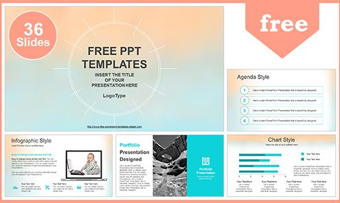 pastel watercolor painted powerpoint template list