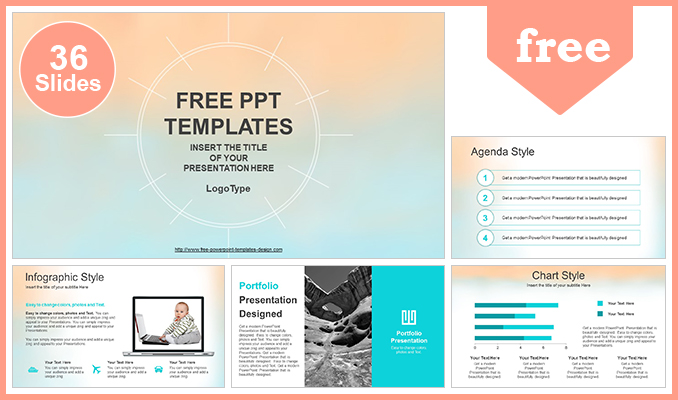pastel watercolor painted powerpoint template post