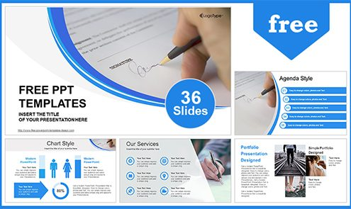 Free business powerpoint templates design signing document powerpoint template flashek Images