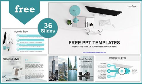 Free cool powerpoint templates design simple office computer view powerpoint template list maxwellsz