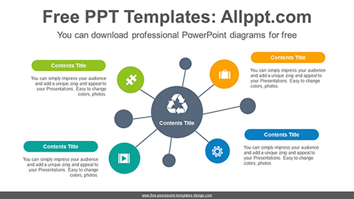 Circle Mindmap PowerPoint Diagram Template