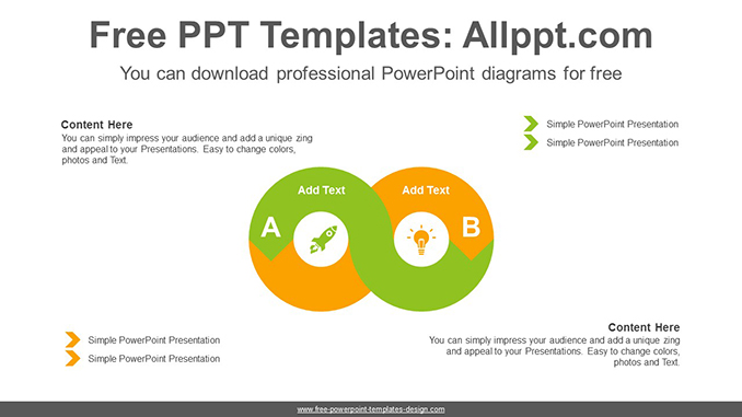 Infinity Symbol Powerpoint Diagram Template